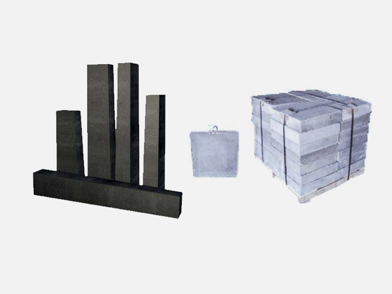 Ladle wall, ladle bottom, low carbon magnesium carbon brick and carbon - free precast block