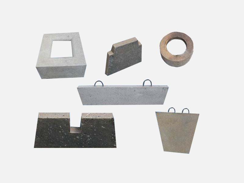 Intermediate slag dam, slag dam, impact plate, turbulence device prefabricated parts
